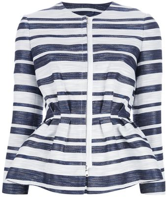 3.1 Phillip Lim Striped Peplum Jacket - Lyst