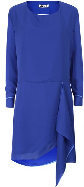 Acne Blue Adelle Tape Klein Cut Out Dress - Lyst