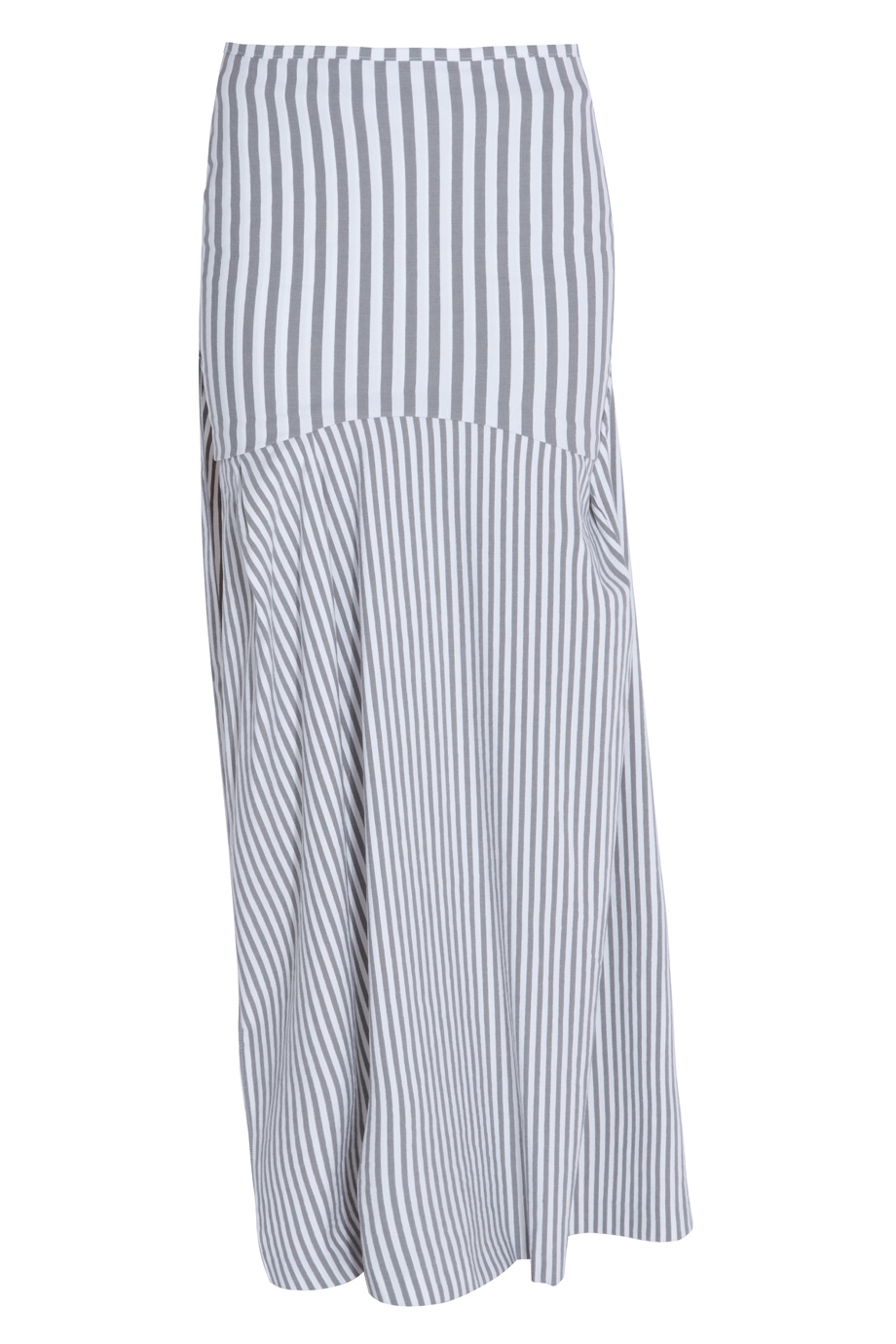 acne studios stripe cotton maxi skirt in white lyst