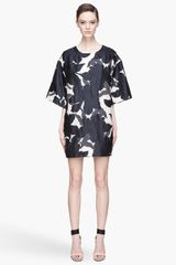 Chloé Dark Blue Flower Jacquard On Gazar Dress