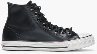 Converse Black Chuck Taylor All Star Studded Leather Hitops - Lyst