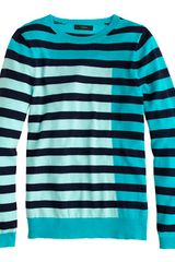 J.Crew  Featherweight Cashmere Tippi Sweater in Colorblock Stripe - Lyst