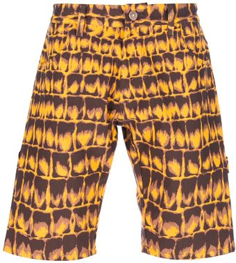 Jeremy Scott Crocodile Print Shorts - Lyst