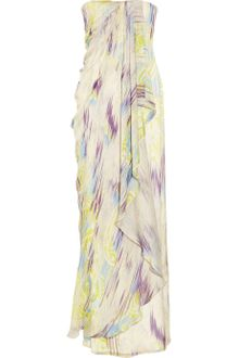 Matthew Williamson Printed Silk Chiffon Gown - Lyst