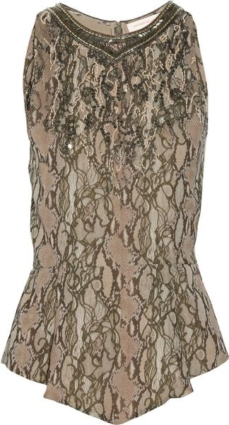Matthew Williamson Printed Silk Georgette Top - Lyst