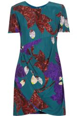 Matthew Williamson Draped Printed Silk Dress - Lyst