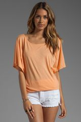 Michael Stars Short Sleeve Off Shoulder Dolman Top - Lyst