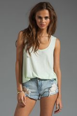 Michael Stars High-Low Scoop Tank - Lyst