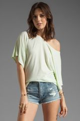 Michael Stars Short Sleeve Offshoulder Dolman Top - Lyst