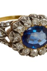 Olivia Collings Antique Jewelry Sapphire Diamond Open Set Cluster Ring - Lyst