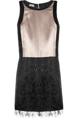 Philosophy di Alberta Ferretti Embellished Fringed Silk Satin Dress - Lyst