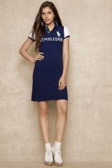Ralph Lauren Blue Label Colorblocked Wimbledon Dress - Lyst