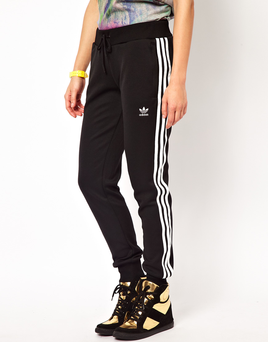 5361c32a2c21 Lyst - adidas Cuffed Track Pants in Black