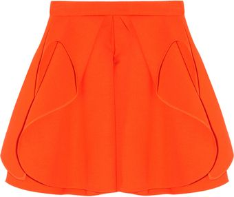 Antonio Berardi Folded Stretch Wool Mini Skirt - Lyst