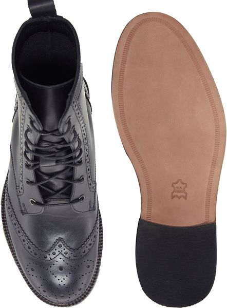 Brogue Boots Asos Asos Brogue Boots With
