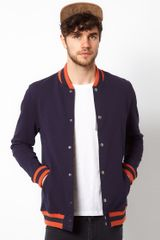 Asos Bomber with Stripe Ribs