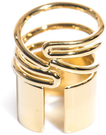 Balenciaga Tube Wrap Around Ring - Lyst