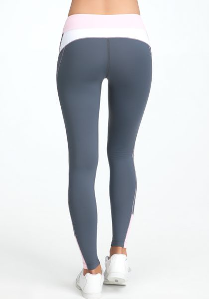 bebe colorblock legging bebe sport online exclusive in gray steel grey pink lyst. Black Bedroom Furniture Sets. Home Design Ideas