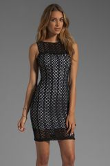 Black Halo Marianne Crochet Lace Sheath Dress in Blackwhite - Lyst