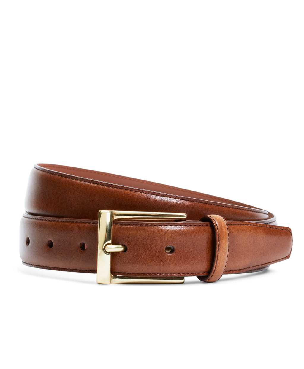 brothers gold buckle dress belt in brown for lyst