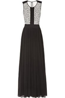 By Malene Birger Tiari Lace Trimmed Silk Chiffon Gown - Lyst