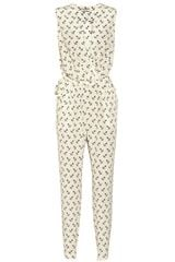 By Malene Birger Etalia Anchor print Silk Jumpsuit - Lyst