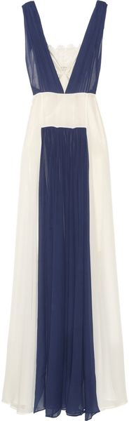 By Malene Birger Kadria Colorblock Silkchiffon Gown - Lyst