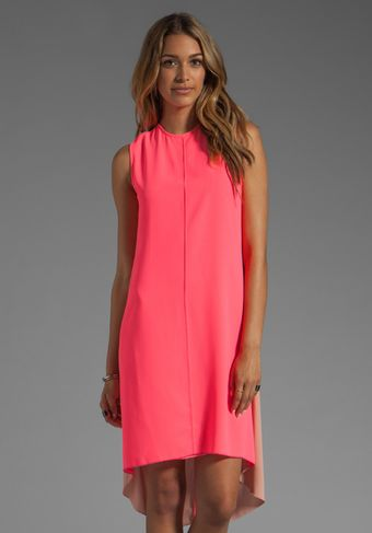 Camilla & Marc Reflection Diamond Jacquard Dress in Fluoro Pink W Nude Back - Lyst