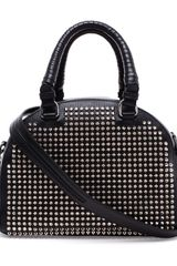 Christian Louboutin Panettone Mini Studded Leather Bowling Bag - Lyst