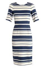 Dolce & Gabbana Striped Cotton Dress - Lyst