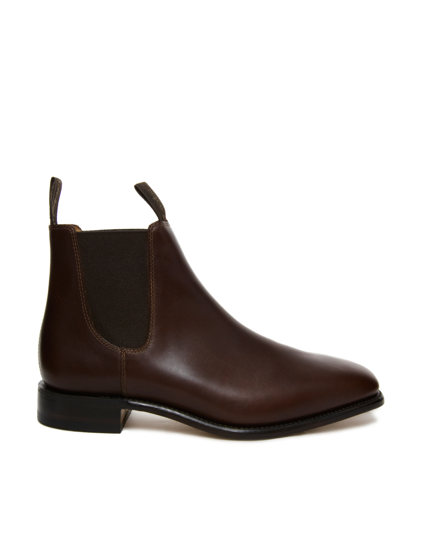 loake chatsworth chelsea boots in brown for men lyst. Black Bedroom Furniture Sets. Home Design Ideas
