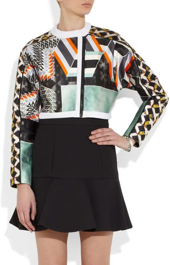 Peter Pilotto Isaac Printed Satin Twill Jacket - Lyst