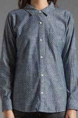 Rails Chase Chambray Button Down in Polka Dot Chambray - Lyst
