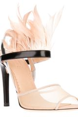Reed Krakoff Feather Trim Sandal
