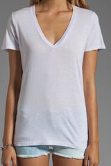 Splendid Very Light Jersey V Neck Tee in Icy Lilac - Lyst