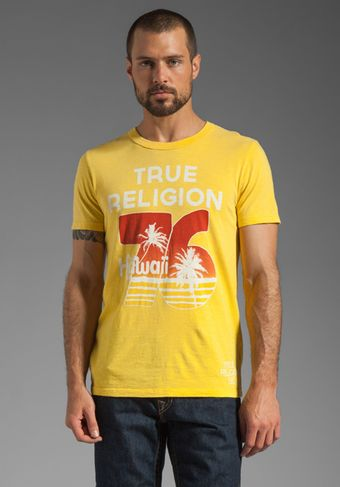 True Religion Hawaii Graphic Tee in Pineapple - Lyst