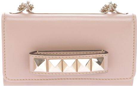 Valentino Studded Shoulder Bag in Pink (rose)