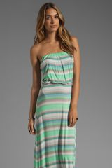Velvet Taylor Sunset Stripe Maxi in Aquarim - Lyst