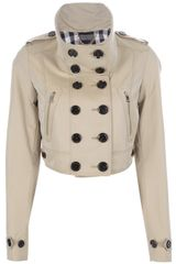 Burberry Brit Cropped Flying Jacket - Lyst