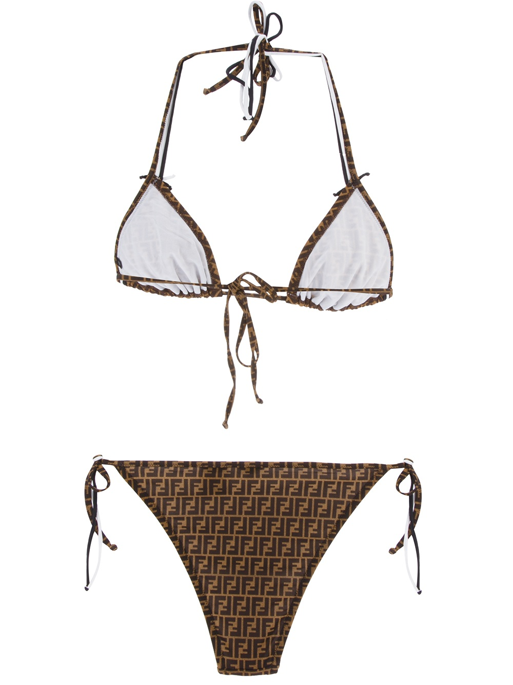 33cf93fa9e Fendi Monogram Bikini in Brown - Lyst