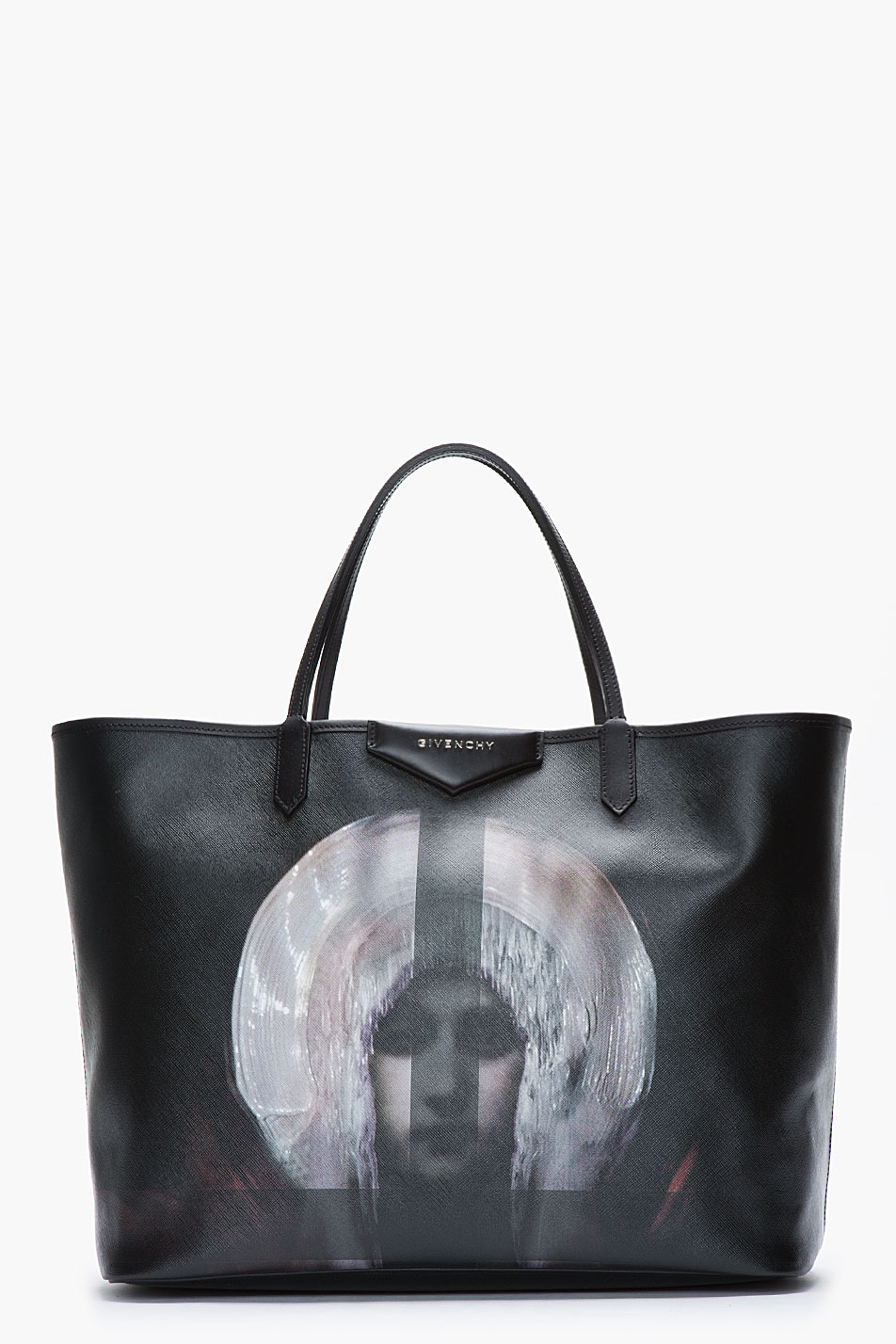 Lyst - Givenchy Large Black Pvc Madonna Printed Antigona Shopper ... 116d88a97a32f