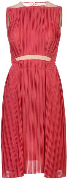 Marios Schwab Pleated Sleeveless Dress - Lyst