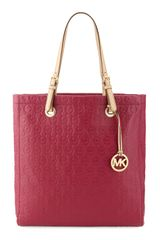 Michael by Michael Kors Jet Set Monogram Tote Bag - Lyst