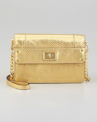 Milly Emma Embossed Metallic Mini Bag - Lyst