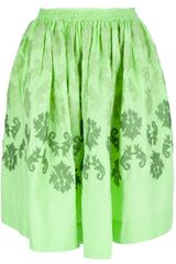 Moschino Cheap & Chic Appliqué Pleated Skirt - Lyst