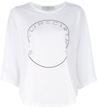 Stella McCartney Logo Cropped T-Shirt - Lyst