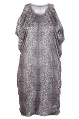 Yigal Azrouel Foiled Cobra Knit Dress - Lyst