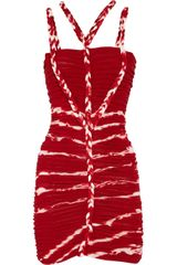 Isabel Marant Lia Ruched Fine Knit Jersey Dress - Lyst
