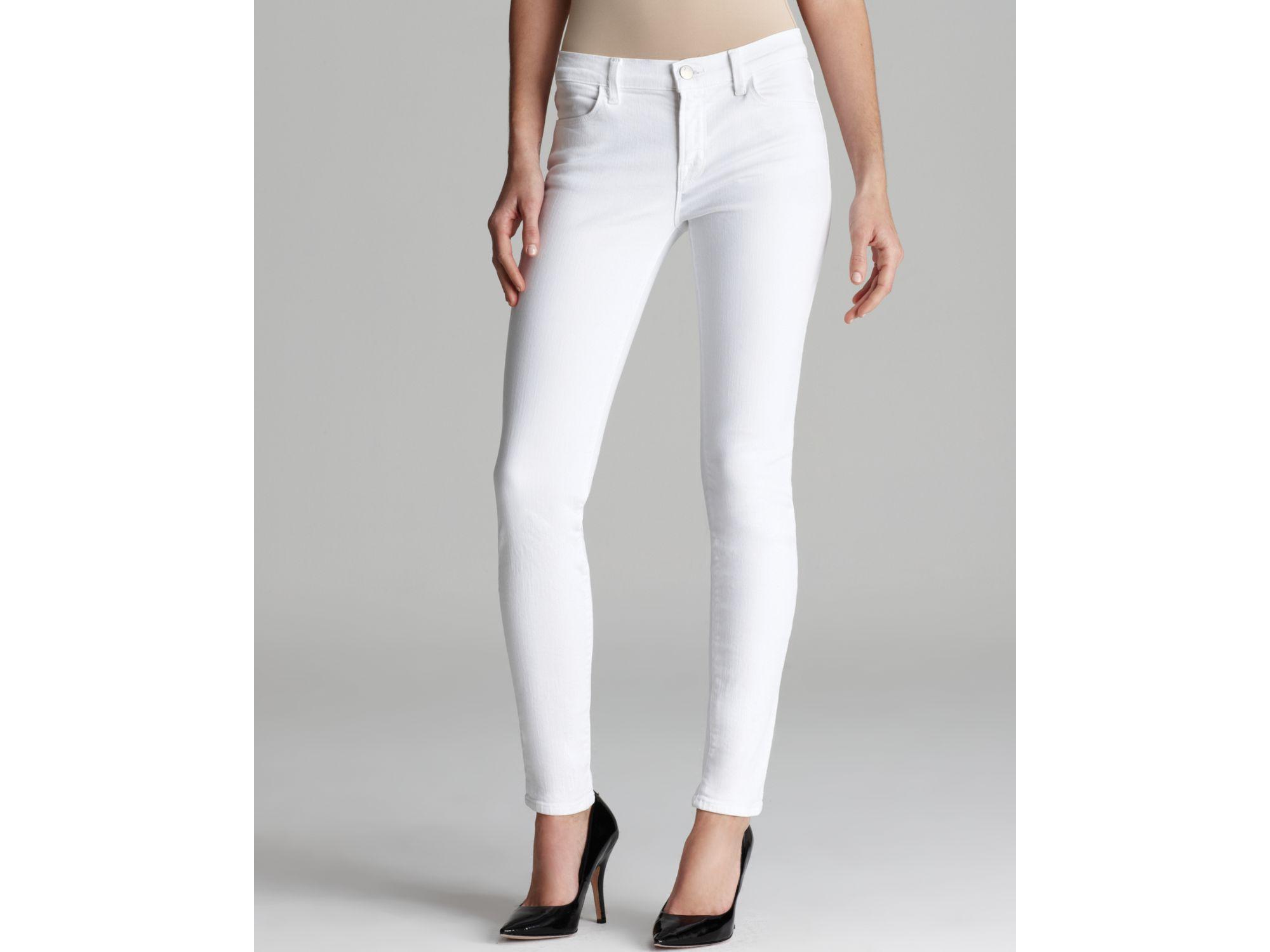 cbcec0c84d03 J Brand Jeans Mid Rise 620 Super Skinny Eyelet Leg in White in White ...