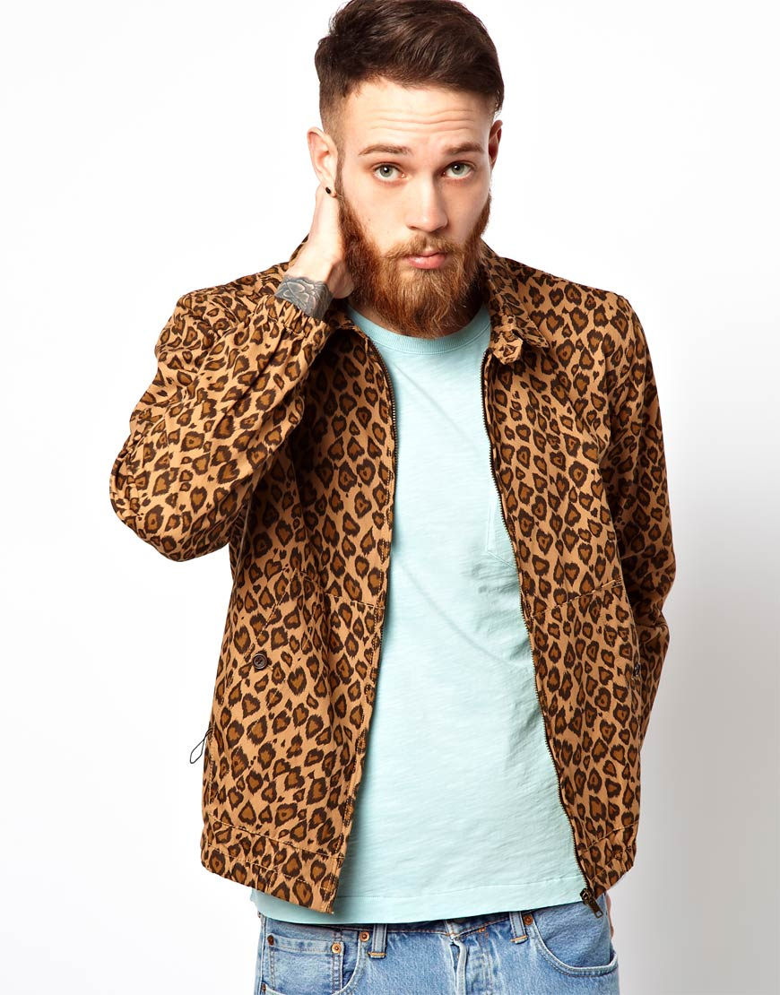 69ff53fddf8e YMC Jacket with Leopard Print in Natural for Men - Lyst